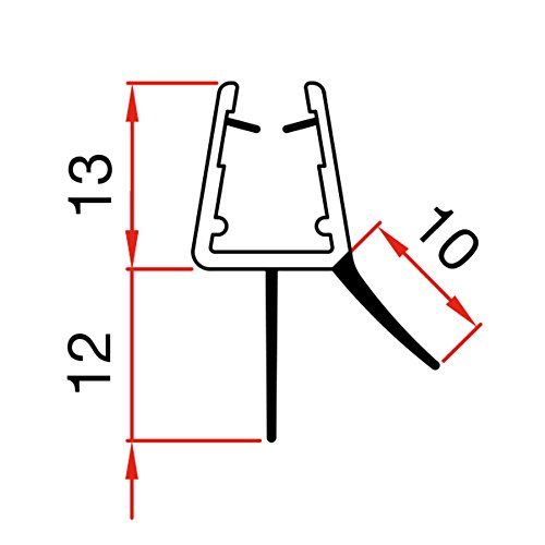 100cm Sealis Guarnizione Ricambio  Guarnizione Sottoporta Doccia per Vetri di Spessore 5mm 6mm  7mm 8mm Profilo Box Doccia Guarnizione Aletta Doccia  Trasparente