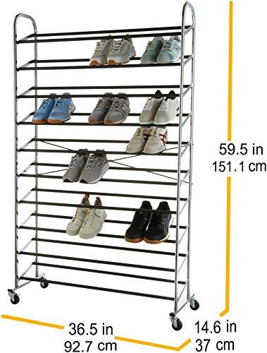 AmazonBasics  Scarpiera per 50 paia di scarpe