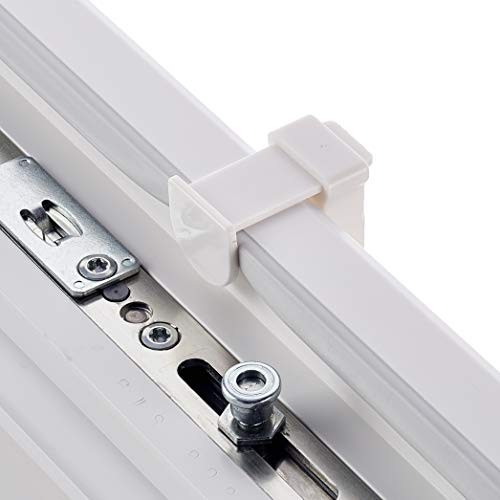 AmazonBasics  Tenda a rullo plissettata in robusto tessuto di poliestere con sistema a clip 70 x 130 cm Bianco