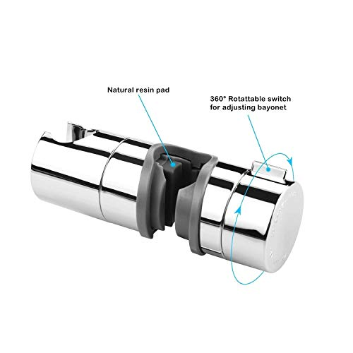 Aoleca Ricambio staffaDoccia Supporto Staffa Per Doccetta Diametro 18  25 mm Soffione Doccia ABS cromo accessori bagno regolabile