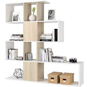 Azard ZigZag Libreria Bianco BiancoBeige 145 x 29 x 145 cm