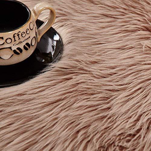 DAOXU Piazza 90 x 60 cm Tappeto Faux Fur Morbido soffice Tappeto Peloso Faux Montone Tappeto Tappeto Tappeto Soggiorno Camera da Letto Decorazione 90x60cm Marrone