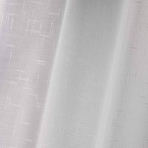 Douceur dIntrieur 1621088  Coppia tende a vetro Luminea in tinta unita 45120 cm colore Bianco  Confezione 2 pezzi
