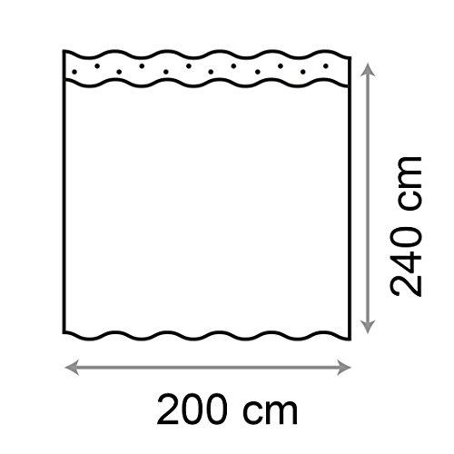 HuaForCity Tenda Doccia 200x240cmlarghezza x altezza Grande Impermeabile Antimuffa Poliestere Elegante Tenda da Bagno Accessori da Bagno Vasca con FibbieGanci Motivo di Mosaico