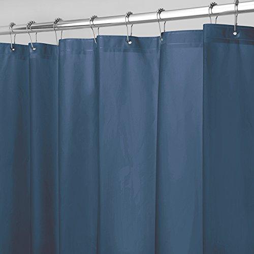 InterDesign 30 Liner Fodera per tenda doccia Grande tenda per vasca da bagno in PEVA antimuffa con 12 occhielli di 1830 cm x 1830 cm Blu navy