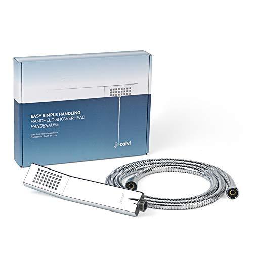 Jocalvi  Soffione doccia con tubo flessibile design elegante e lineare tubo flessibile da 16 m doccetta con 1 tipo di getto