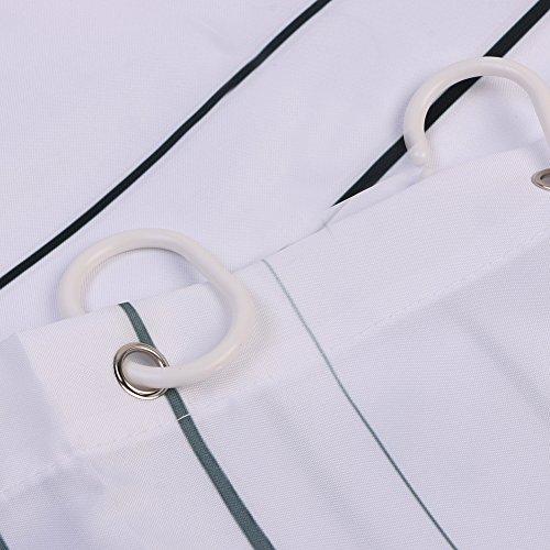 Leashy Tenda da doccia design divertente con simpatico gatto impermeabile antimuffa con ganci inclusi gatto nero 150x180