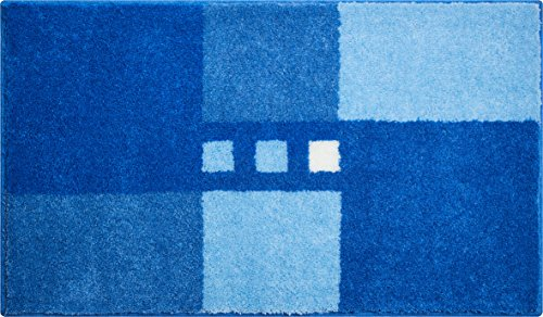 Linea Due MERKUR Tappeto per Il Bagno Poliacrilico Supersoft Blu 70x120 cm