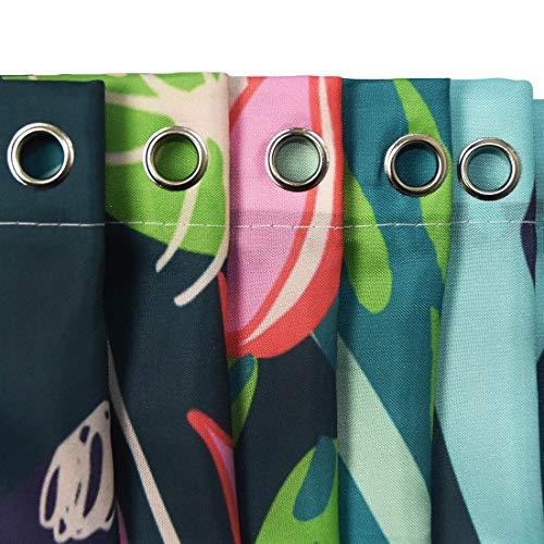 LITTHING Tessuto della tenda delle tende da doccia del modello di stampa di Digital 3D della tenda da doccia impermeabile 9