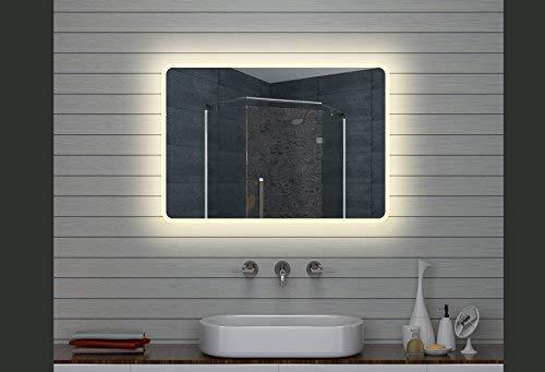 Lux Aqua Design LED Specchio Luce Specchio Bagno Specchio da Parete Specchio 100x 70cm
