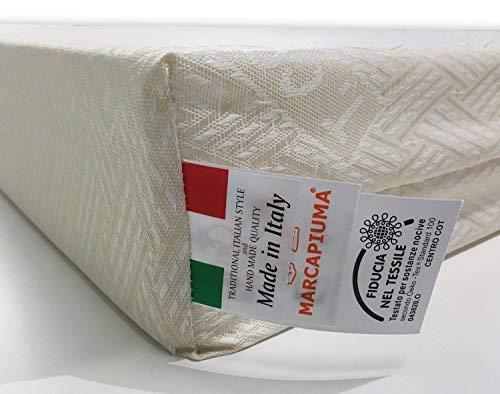 Marcapiuma  Materasso Bambino 70x140 Alto 10 cm  Bamby  Materassino Baby in Waterfoam Schiuma Espansa  Traspirante  Rivestimento sfoderabile Antiacaro Lettino Offerta Neonato 100 Made in Italy