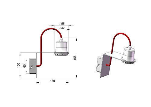 MINI AP CR applique moderno minimal cromato filo trasparente DIAMANTLUX