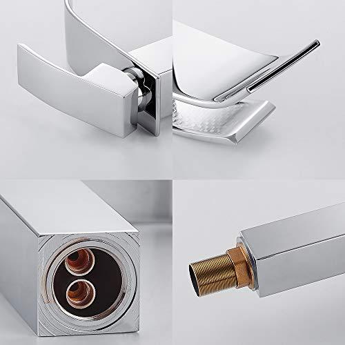 Miscelatore dal design allungato monocomando per lavandino con rubinetto a cascata miscelatore monocomando per bagno