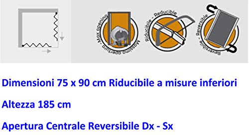 Nuovo Box Doccia FLEX Soffietto Angolare 75 x 90 x 185 h Riducibile