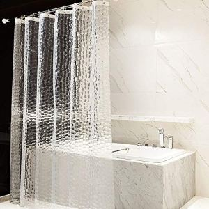 OTraki Tenda Doccia Antimuffa 180 x 200 cm 100 Eva Tenda Vasca Bagno Lavabile Tende Doccia 3D Bianco Semitransparente Ecologico Impermeabile Shower Curtain con 12 Ganci Antiruggine
