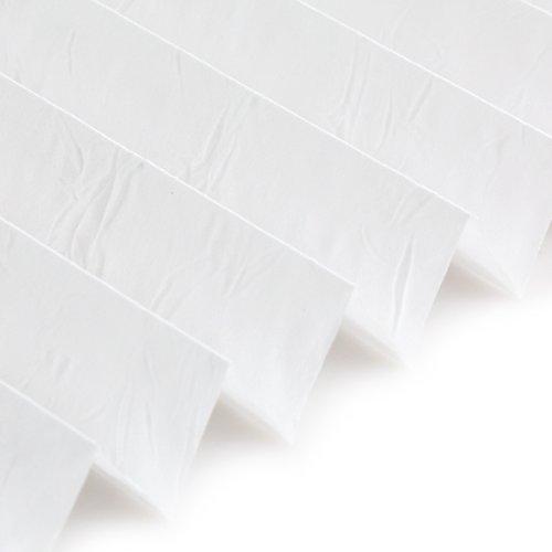 OUBO Tenda Plissettata Oscurante Tenda Plissettata Senza Fori Bianco 45 x 120 cm Klemmfix Montaggio Senza Viti Supporti a Morsetto per la Finestra Tenda Veneziana Senza forare