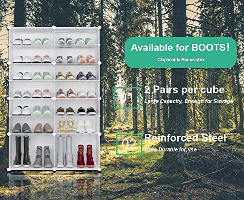 PREMAG Torre per riporre Gli Scarponi Portatili Bianca Scaffale modulare per riporre Gli spazi Scaffale per Scarpe per Scarpe Stivali Pantofole 2  7