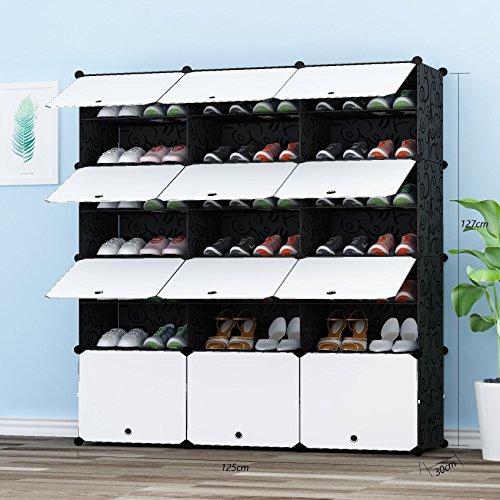 PREMAG Torre per riporre Gli Scarponi Portatili Scaffale modulare per riporre Gli spazi Scaffale per Scarpe per Scarpe Stivali Pantofole 3  7