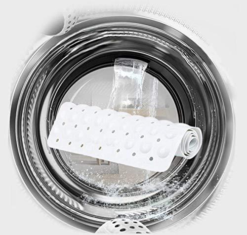 Ruiuzi Tappetini da Bagno in Gomma Antiscivolo per Vasca da Bagno con Tappetino in Gomma PVC con Ventosa Potente Macchina di Presa con Ventosa Lavabile Antibatterico Trasparente 88  40cm