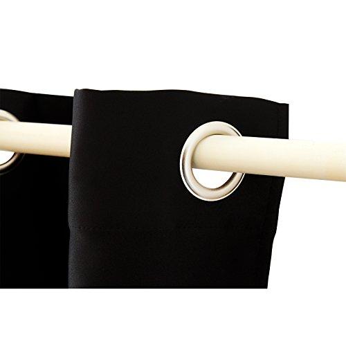 SONGMICS Tende 2 Pezzi Oscurante con Occhielli 145 x 245 cm Nero LRB245H2