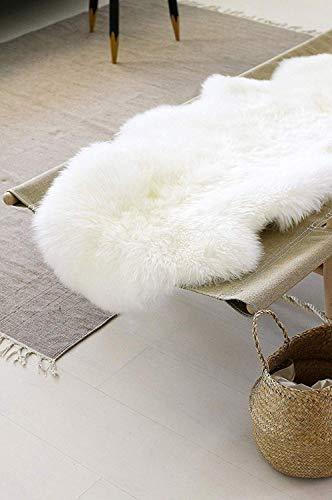SXYHKJ Nuovo NonSlip Faux Pelliccia di Agnello di Pecora TappetoPelliccia Sintetica Tappeto Vello di Pecora  Bel Colore Molto Caldo Ottima qualit Bianco 60x160cm