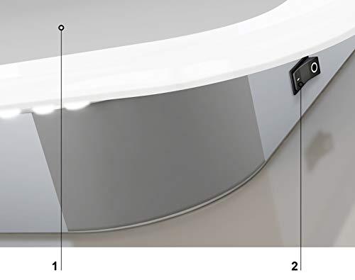 Talos Moon Specchio per Il Bagno a LED Argento 120 x 70 cm