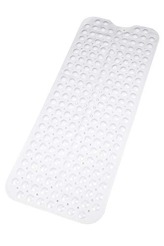 Tappetino da bagno  Extra lungo tappetino da bagno Set contemporaneo resistente ed elegante Antiscivolo Moderno tappetini in gomma di qualit con ventose Antiscivolo e lavabile in lavatrice