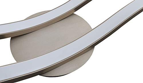 Trango Design moderno Plafoniera a LEDapplique da bagnoapplique TG3159 inclusa 2x modulo LED 3000K bianco caldo direttamente 230V