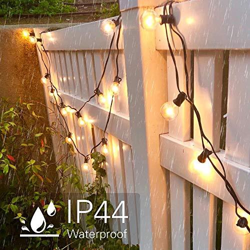 tronisky Catena Luminosa 762M Stringa Luci Catene Luminose Impermeabile con 25 G40 Lampadina Bianco Caldo Decorazione da Esterno e Interno per Giardino Terrazza Matrimonio Natale Festa
