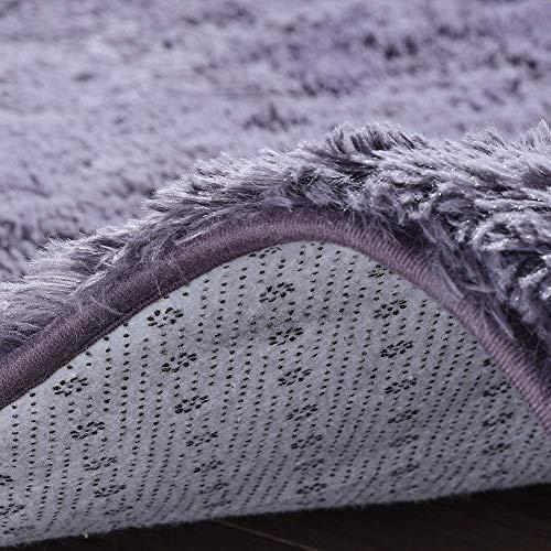 Txyk Tappeti Zona Moderna Ultra Morbida Soffici tappeti Soggiorno Adatto per Bambini Camera da Letto Home Decor Nursery Tappeti 60  120 cm Viola Grigio
