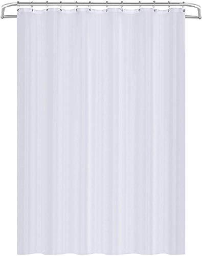 Utopia Home 180 x 200 cm Tenda da Doccia in Tessuto Resistente allAcqua Antibatterica e Resistente alla Muffa Bianca