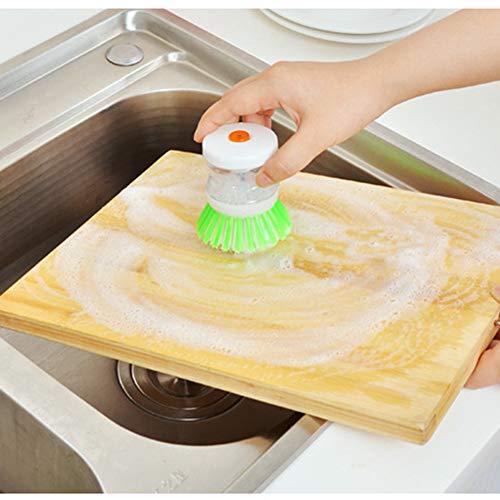 Weehey Spazzola per stoviglie con Dispenser di Sapone Spazzola di Pulizia per Piatti Pulizia pentola Pentole Utensili da Cucina per la casa Colore Casuale
