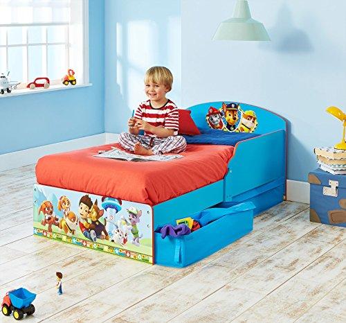Worlds Apart WAP Paw Patrol Lettino per Bambini con Cassettoni LegnoComposito Multicolore 59x142x77 cm