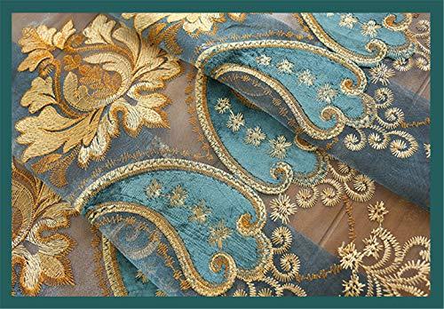 WWBB Tenda del RicamoCaterpillar Ricamato Tende oscuranti AltaTende di LussoCamera da Letto Soggiorno Finestra del Pavimento Tende di PizzoB 150x270cm59x106inch VersionB