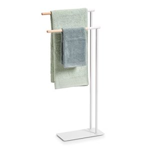 Zeller Asciugamano Supporto in MetalloGomma Albero Bianco