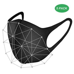 BYJIN 5 pezzi Maschera 3D Maschera viso in cotone aria Riutilizzabile Comoda sicurezza Respirante Sicurezza Maschere antipolvere antipolvere