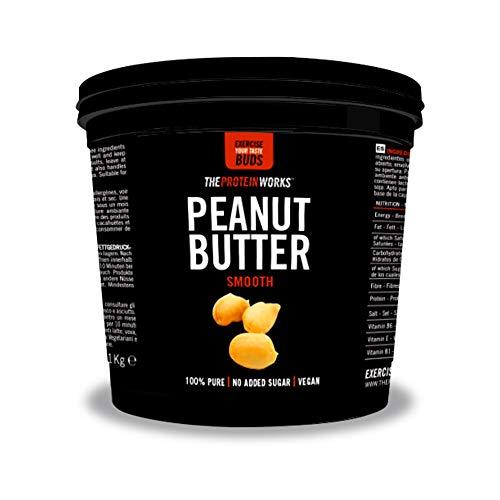 Burri alle noci  The Protein Works  Ricchi di proteine e prodotti solo con noci al 100 naturali  Senza sale e zuccheri aggiunti Arachidi Cremoso