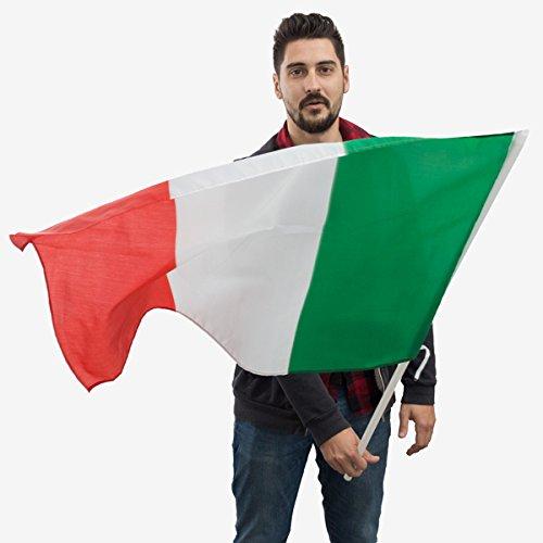 GenricoBandiera Italia con Asta 90x 60cm