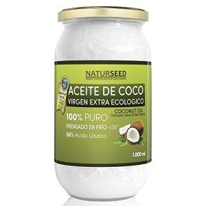 Naturseed  Olio Di Cocco Extra Vergine da 1000 ml  Cibo biologico GRATIS Ebook  Estrazione a freddo