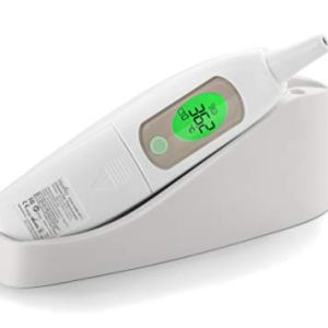 Nuvita 2071 Termometro Orecchio Bambini  Termometro Febbre con Suono e Allarme Visivo  Supporto Custodia  Pulsante Luminoso  Senza BPA  Fabbricato in EU  Design Italiano