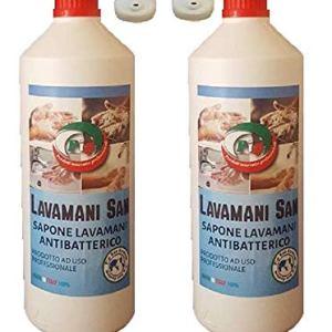 Pip Lavamani San Sapone Liquido Cremoso Antibatterico a PH Fisiologico ESENTE DA CLORO E ALCOOL N 2 Flaconi LT1  Disp