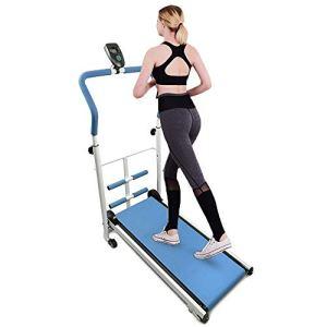 Tapis roulant PieghevoleTapis Roulant Home Corsa Walking Fitness con Schermo LED 88x435x110cm Blu