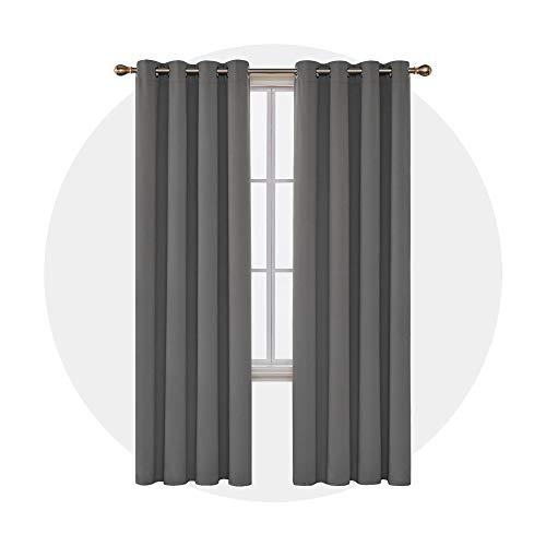 Deconovo Tende Oscuranti Termiche Isolanti Moderne per Salotto 140x270cm Grigio Chiaro 2 Pannelli