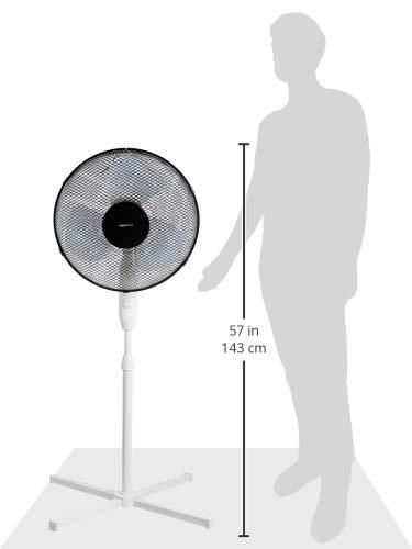 AmazonBasics  Ventilatore oscillante con piantana a 3 velocit  40 W Nero