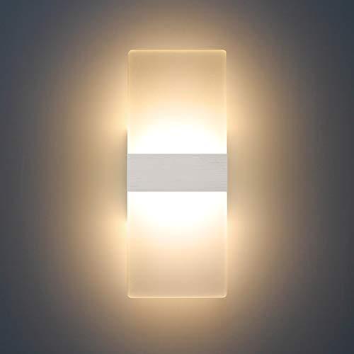 04 Acrylic Wall Light lampada acrilica da parete Alluminio bianco caldo size1