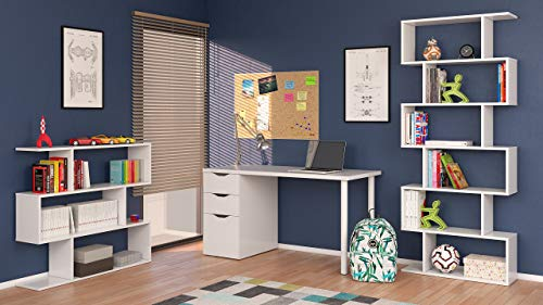 13Casa Kafka A8 Libreria MelaminaLegno Bianco Lucido 80x25x192 cm