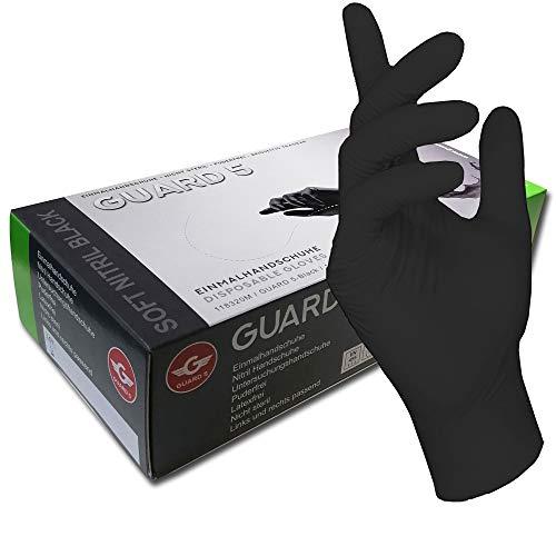 200 pezzi 1 scatola nero guanti usa e getta  guanti senza polvere di nitrile guanti da cucina Tattoo ambulanza Xtra Large