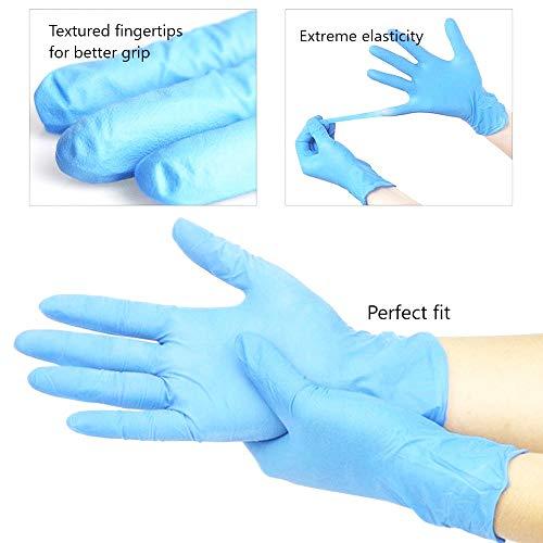 200x Guanti Monouso  Safe Fit Guanti in nitrile blu L 89 Senza Polvere Senza Latex Grado Medico AQL 15 Lavoro Leggero Pulizia Giardinaggio Tatuaggio Pittura