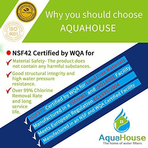4x AquaHouse AHUIF Compatibile universale Frigorifero Filtro acqua per Samsung LG Daewoo Rangemaster Beko Haier etc