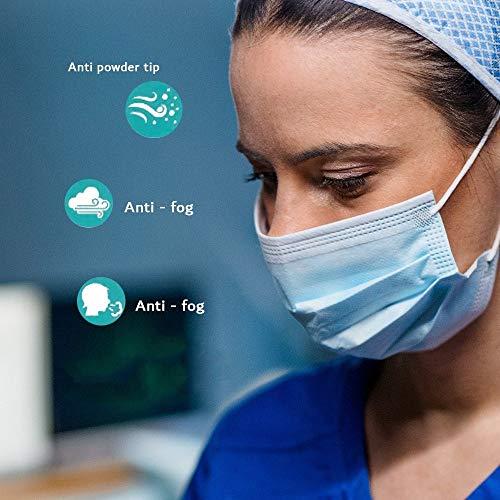 50x Mundbedeckung Polvere Hygiene Atem Bocca Spuck Protezione USA e Getta 3Lagig Rapida